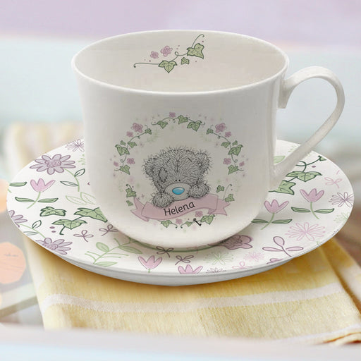 Personalised Me To You Secret Garden Cup & Saucer