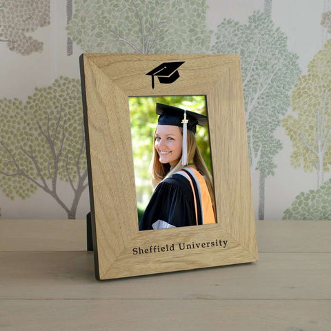 Personalised Graduation Mortar Board Photo Frame from Pukkagifts.uk