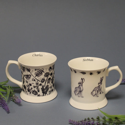 Personalised Watership Down Bone China Mug Set from Pukkagifts.uk