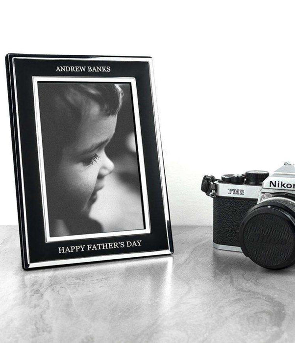 Personalised Silver Plated Father's Day Photo Frame from Pukkagifts.uk