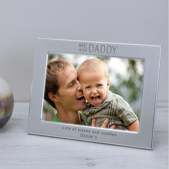 Personalised ME And DADDY Silver Plated Photo Frame
