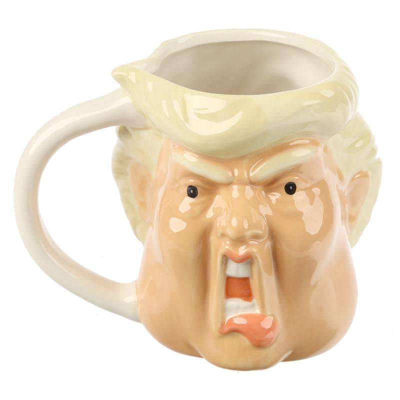 President Donald Trump Shaped Mug from Pukkagifts.uk