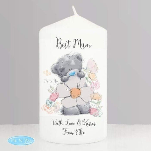 Personalised Me to You Floral Pillar Candle from Pukkagifts.uk