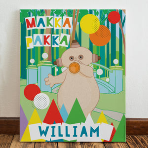 Personalised Makka Pakka In The Night Garden Canvas