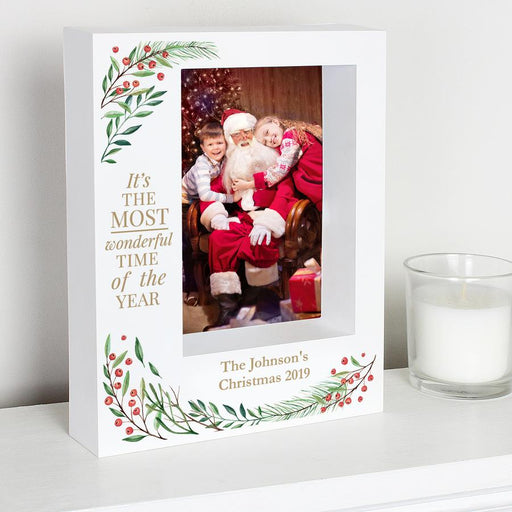 Personalised Wonderful Time of The Year Christmas Box Photo Frame 7x5