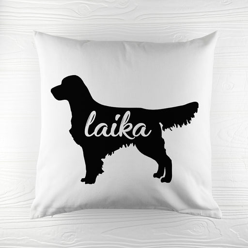 Personalised Golden Retriever Silhouette Cushion Cover from Pukkagifts.uk