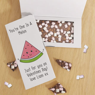 Personalised You're One In A Melon Milk Chocolate Card