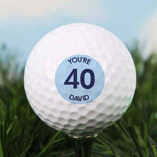 Personalised Blue Age Golf Ball