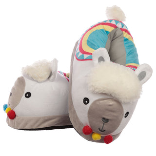Plush Llama Slippers Unisex One Size from Pukkagifts.uk