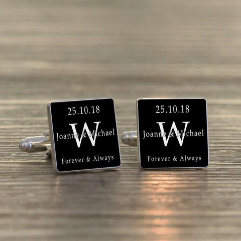 Personalised Forever & Always Cufflinks from Pukkagifts.uk