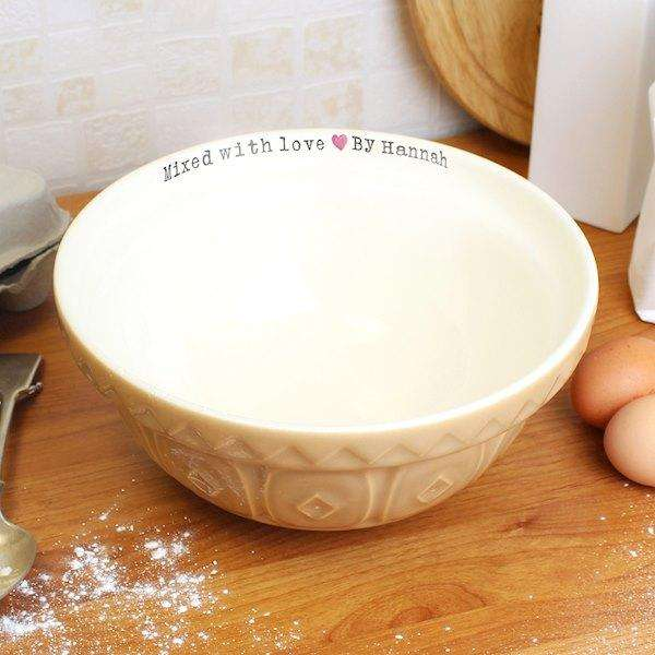 Personalised Mixed With Love Mixing Bowl from Pukkagifts.uk