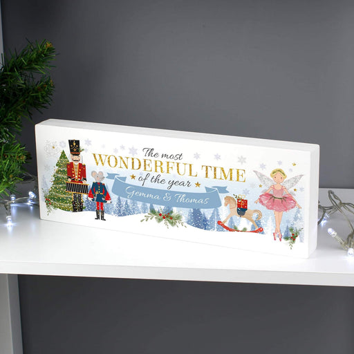 Personalised Nutcracker Christmas Wooden Block Sign