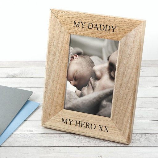 Personalised Oak Photo Frame - Wordsworth Collection