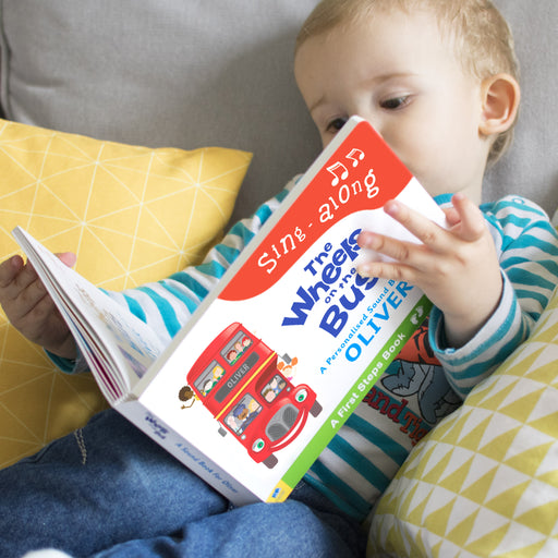 Personalised Wheels on the Bus Sound Book from Pukkagifts.uk