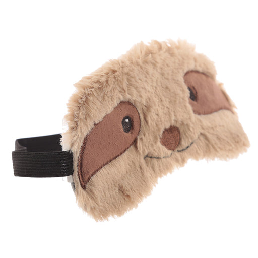 Plush Brown Sloth Eye Mask