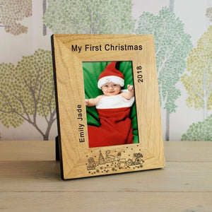Personalised My First Christmas Photo Frame 6x4