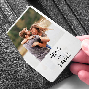 Personalised Moment in Time Metal Wallet Keepsake