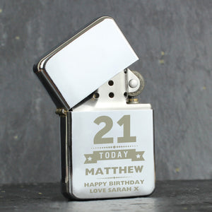 Personalised Birthday Age Lighter