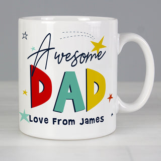 Personalised Awesome Dad Mug