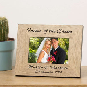 Personalised Father Of The Groom Photo Frame 6x4 from Pukkagifts.uk