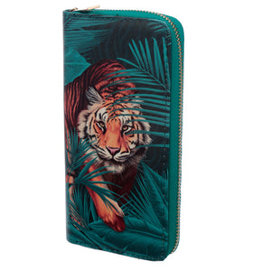 Tiger Zip Around Large Wallet Purse