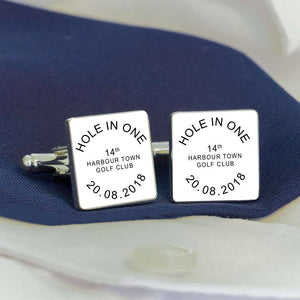 Personalised HOLE IN ONE Golf Cufflinks,Pukka Gifts
