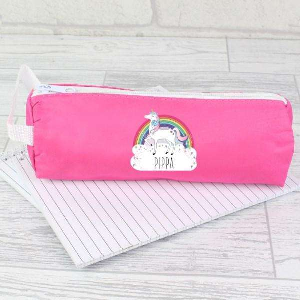 Personalised Unicorn Pink Pencil Case from Pukkagifts.uk