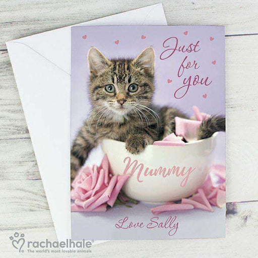 Rachael Hale 'Just for You' Kitten Card from Pukkagifts.uk