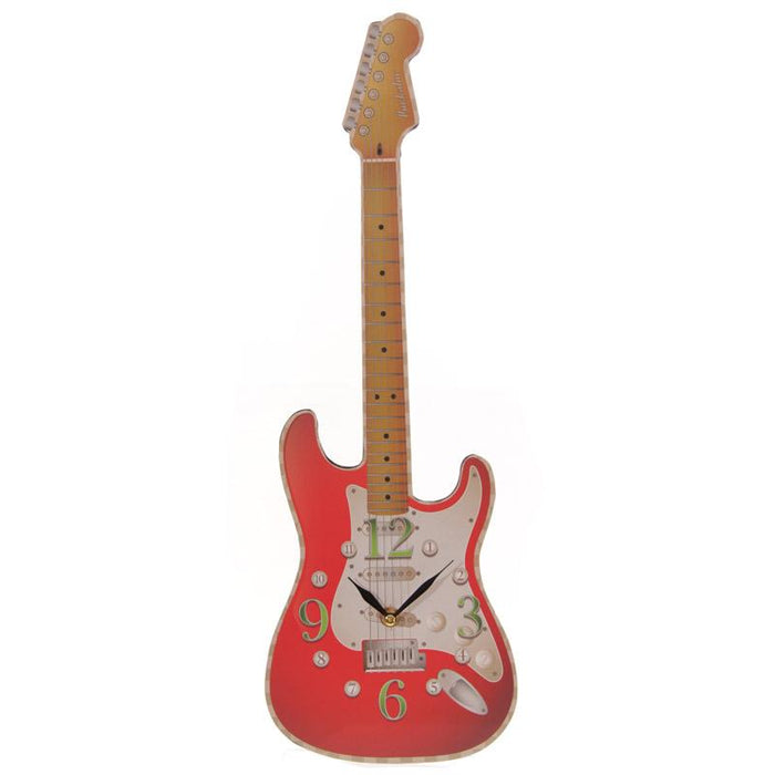 Ted Smith Rock Guitar Shaped Wall Clock