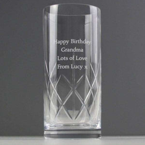 Personalised Cut Crystal Hi Ball Glass from Pukkagifts.uk