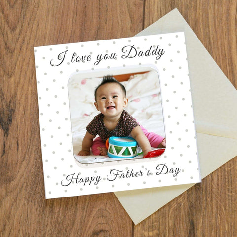 Fathers Day Card With Photo Coaster from Pukkagifts.uk