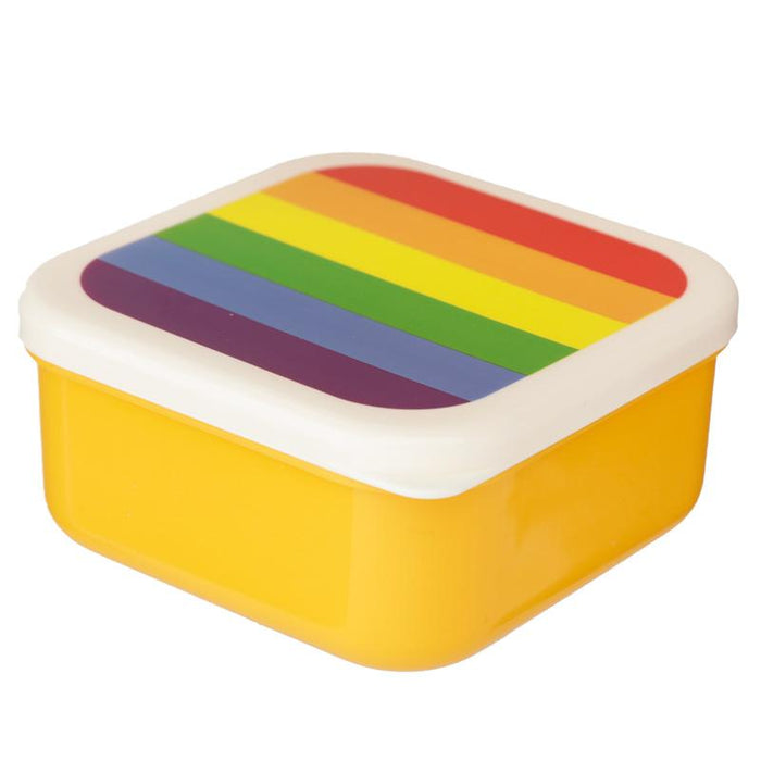 Rainbow Set of 3 Reusable BPA Free Plastic Lunch Boxes