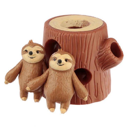 Fun Kids Squeezy Stretchy Hide and Seek Sloth Toy - www.pukkagifts.uk