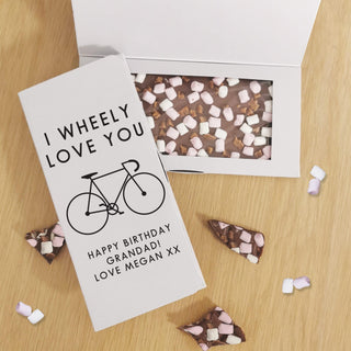 Personalised I Wheely Love You Milk Chocolate Card