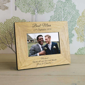 Personalised Best Man Photo Frame from Pukkagifts.uk