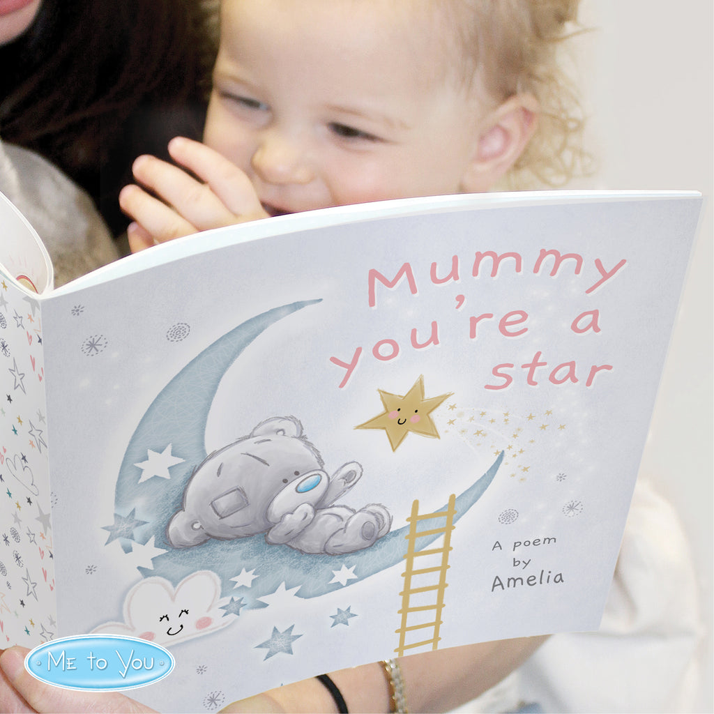 Personalised Tiny Tatty Teddy Mummy You're A Star Poem Book