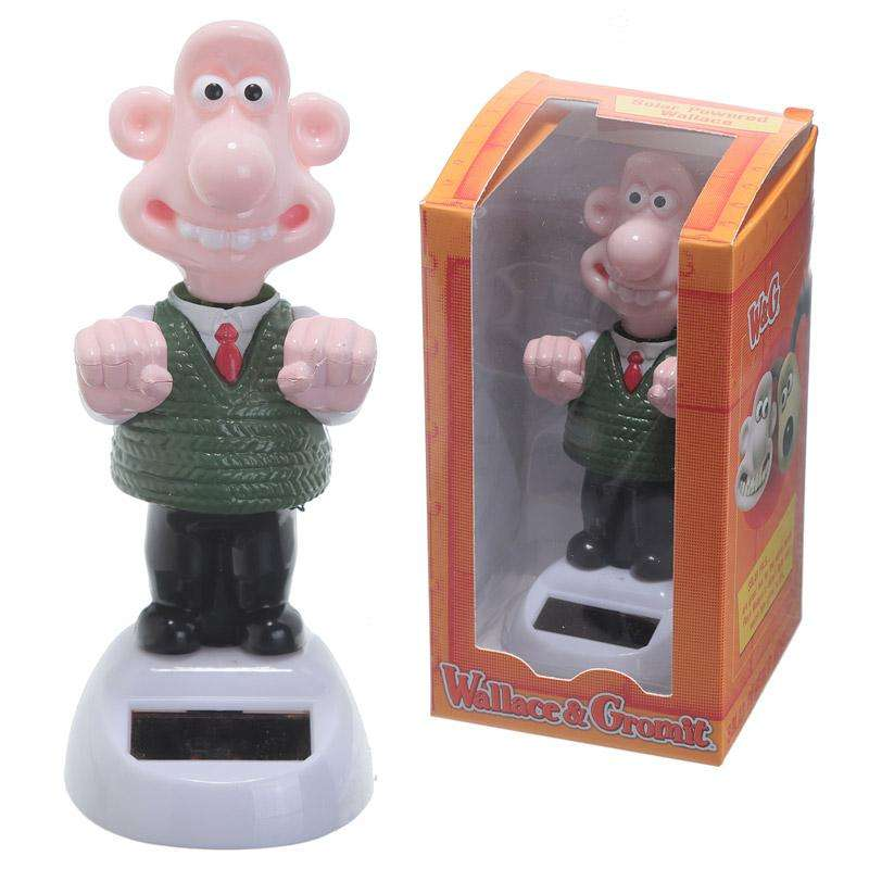 NOVELTY SOLAR POWERED DANCING WALLACE DASHBOARD TOY HOME OR CAR from Pukkagifts.uk