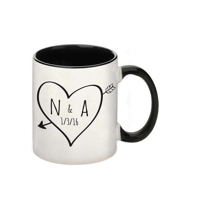 Personalised Sketch Heart Initials Love Mug from Pukkagifts.uk