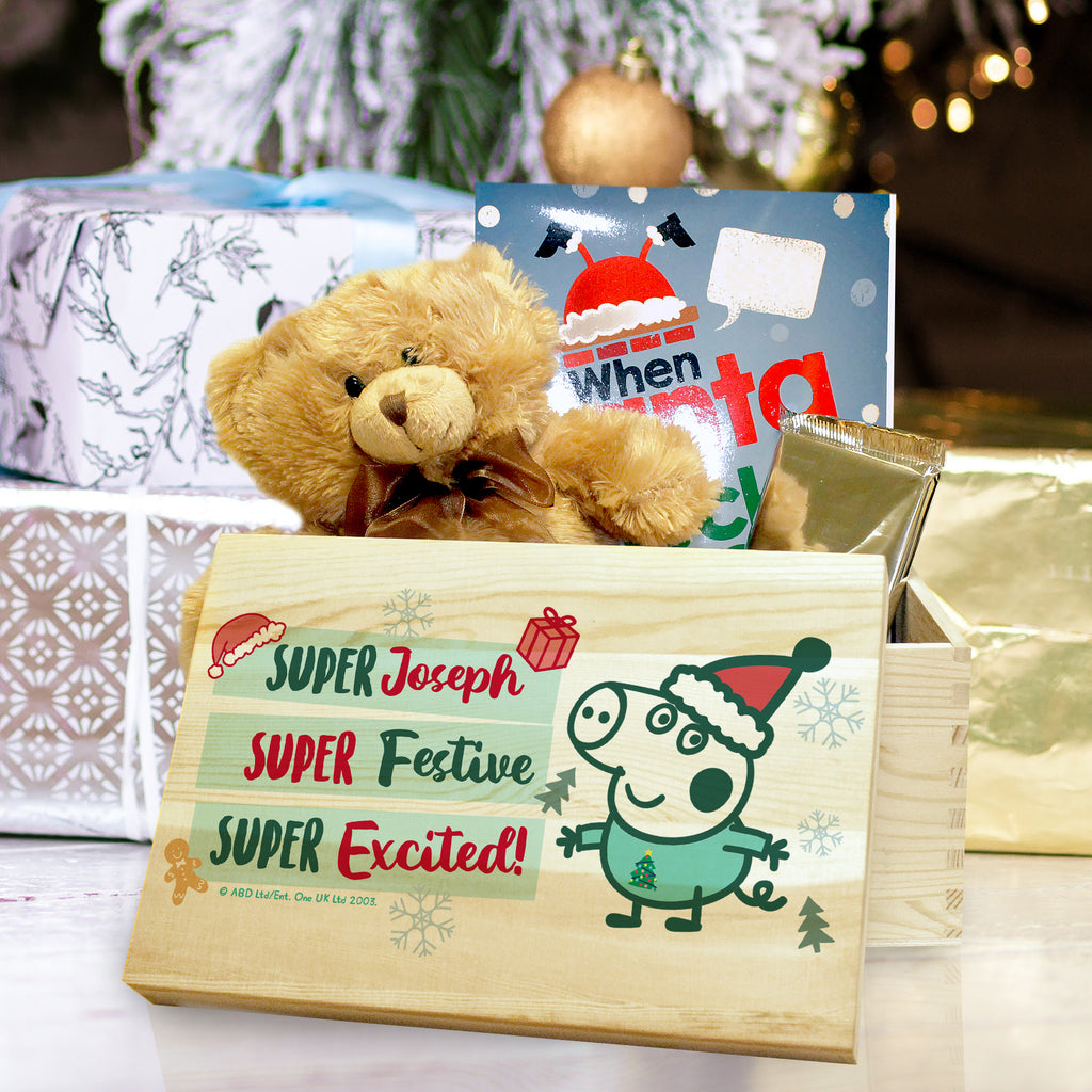 Personalised Peppa Pig George Pig Christmas Eve Box