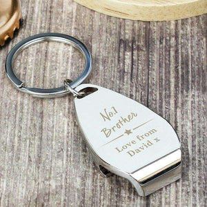 Personalised No.1 Bottle Opener Keyring,Pukka Gifts