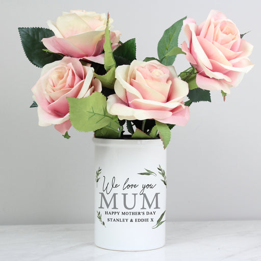 Personalised Botanical Flower Pot