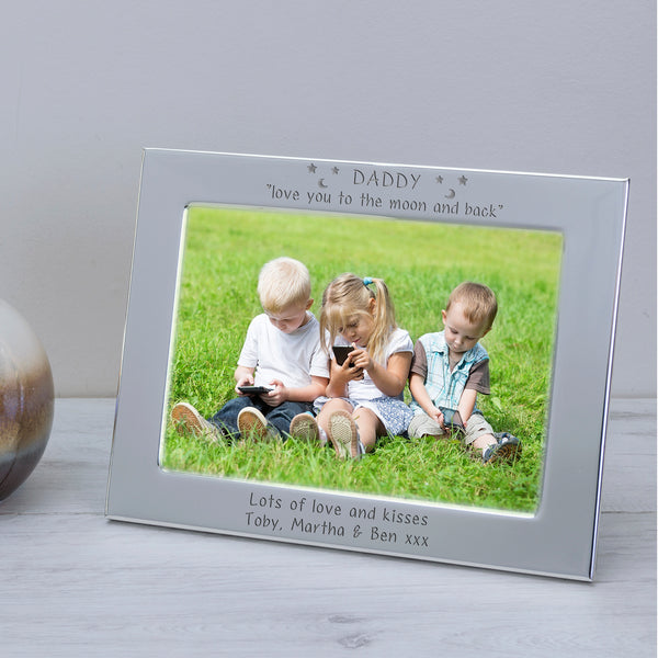 Personalised DADDY Love You To The Moon And Back Silver Photo Frame