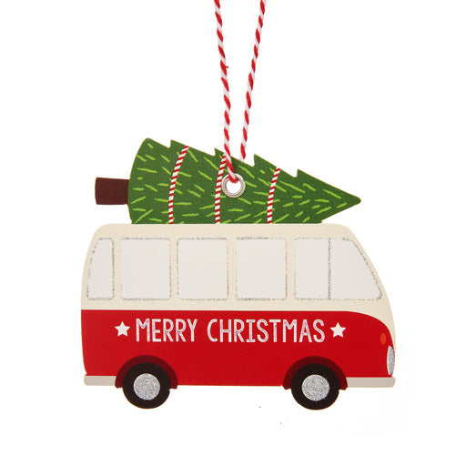 Traditional Christmas Camper Van Gift Tags - Set Of 6