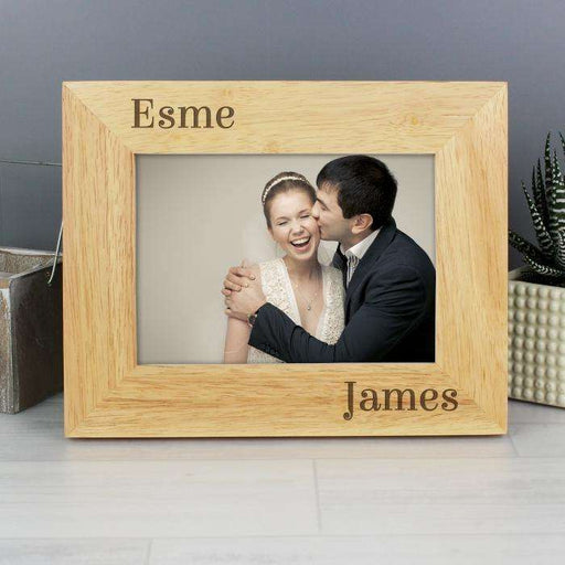 Personalised 6x4 Couples Wooden Photo Frame from Pukkagifts.uk