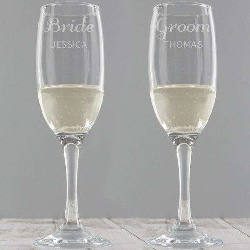 Personalised Classic Pair of Flute Glasses from Pukkagifts.uk