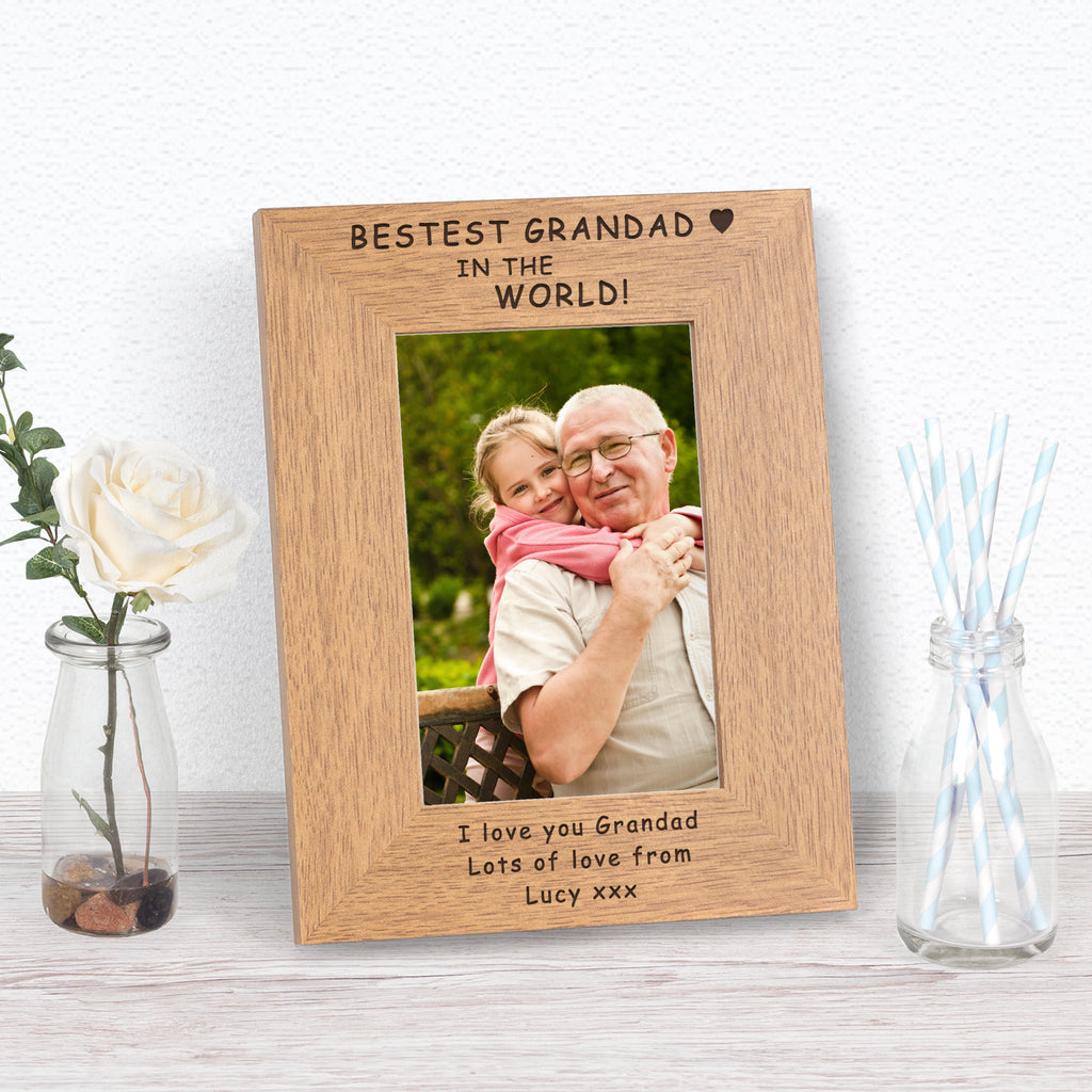 Personalised Bestest Grandad In The World Photo Frame from Pukkagifts.uk