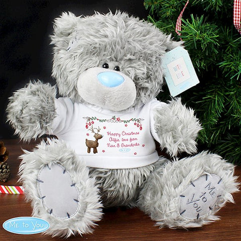 Personalised Me To You Teddy Bear with Christmas Reindeer T-Shirt from Pukkagifts.uk