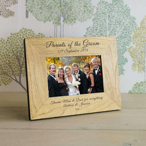 Personalised Parents Of The Groom Photo Frame from Pukkagifts.uk