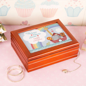 Personalised Noahs Ark Musical Jewellery box from Pukkagifts.uk