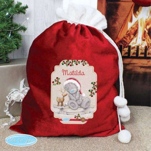 Personalised Me to You Luxury Pom Pom Christmas Sack,Pukka Gifts